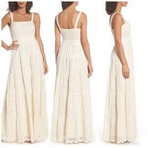 Eliza J boho crochet lace maxi dress